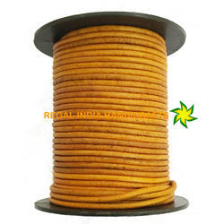 ND Mustard Round Leather Cord