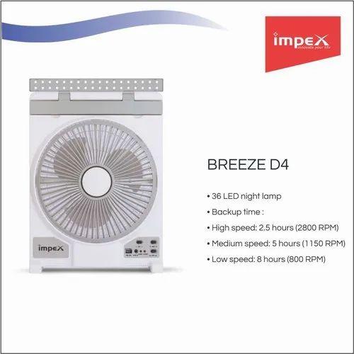 Solar Rechargeable Fan (BREEZE D4)