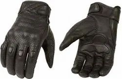 Black Leather Hand Glubs, For Daily Use, Gender: Unisex