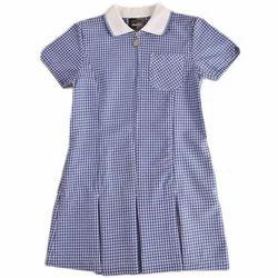 Blue, White Cotton Summer School Uniform