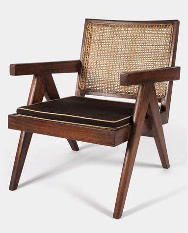 Pierre Jeanneret Replica Solid Teakwood Easy Chair Committee Living Room