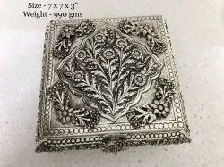 Antique Silver Plated Dryfruit Box