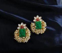GME244 Druzy Flower Earrings, Size: 1.5 inch