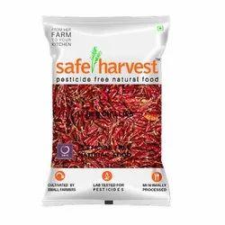 Kashmiri Safe Harvest Dry Red Chili, With Stem