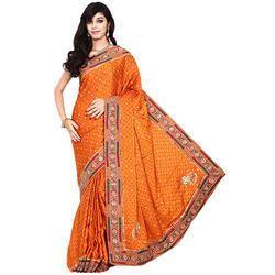 Designer Bandhani Print Saree