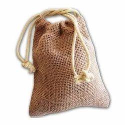 Anoo's Drawstring Plain Jute Potli Bag, Capacity: 500 Gm, Size/Dimension: 6 X 7 Inch