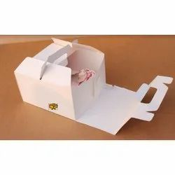 6 Cavity White Handle without Window Cupcake Box