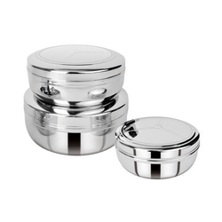 Round Stainless Steel Container, Material Grade: Ss 304, Capacity: Up To 400 Ml