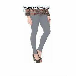 Cotton Straight Fit Ladies Plain Leggings, Size: S-XXL