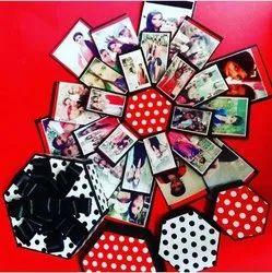 Hexagonal Explosion Box Handmade Card For Gift