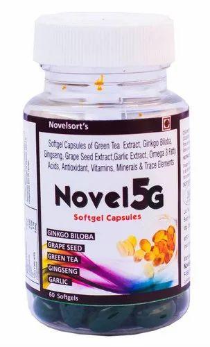 Novel 5G Multivitamins Softgel Capsule, Packaging Type: Bottle