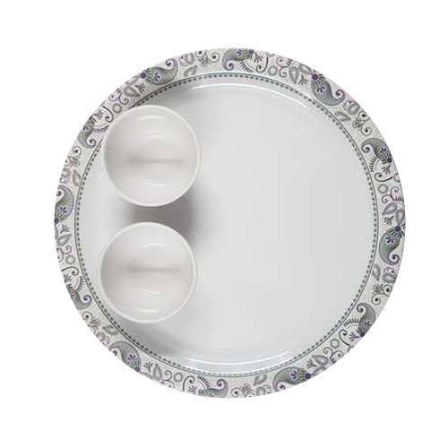 Utsav White Melamine Plate Bowl Set Packaging Type Box