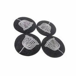 Handmade Paper Mache Black Coasters