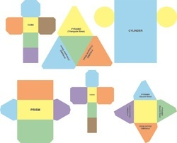 Paper Nets of Solid Shapes Math Item