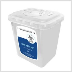 Sharp Knife Needle Waste Disposable Container 8 Litre For Hospitals