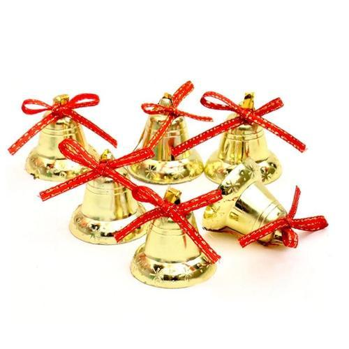 golden christmas tree decoration bells size 1 inch 2 inch 3 inch - Christmas Tree Bell Decoration