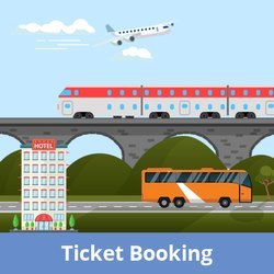 Flight/Train/Bus Ticket Bookings