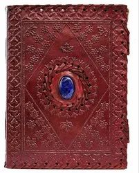 Stone Embossed Leather Cover Journal With Double Latch