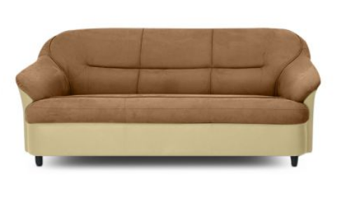 Lamia Three Seater Sofa Cream And Brown