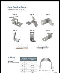 SS Stone Cladding Clamp