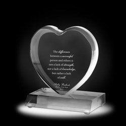 Heart Shape Crystal Mementos