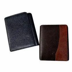 Brown, Black Male Triple Fold Leather Wallet
