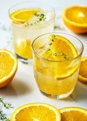 Orange Healthy Sparkling Fruit Drink