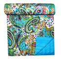 Paisley Printed Cotton Kantha Quilt