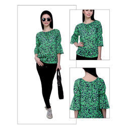 Green Printed Top