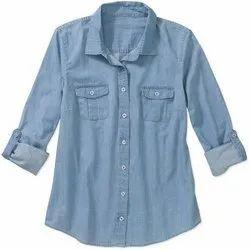 Denim shirt for women