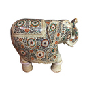 Beautiful Marble Elephant With Inlay Work
