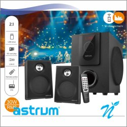 2.1CH 30W RMS BT Wireless Multimedia Speaker