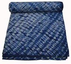 Jaipuri Block Print Queen Size Tye and Dye Quilt