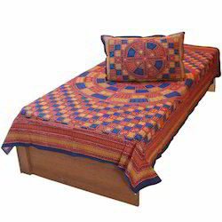 Bagru Printed Single Bed Sheet Pillow 409