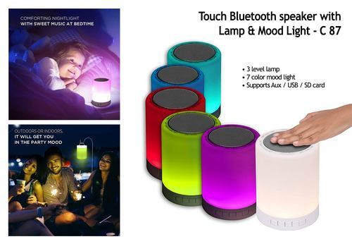 Lamp Speaker Led With Bluetooth Touch rsQCxdth