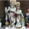 White Fancy Radha Krishna Statue