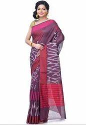 Magenta Chanderi Resham Work Banarasi Saree