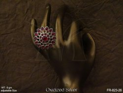 Antique Sunflower Finger Ring