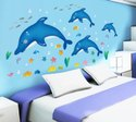 Pvc Wall Decor Fish Sea Plants Sticker 60 X 90
