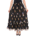 Black Jaipuri Printed Skirt