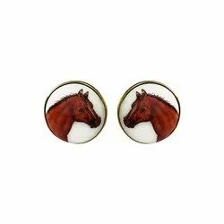 Hand Painted Animals Cufflinks Collection
