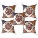 Peacock Print Barmeri Cushion Cover