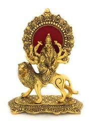 Gold Plated Durga ji Statue