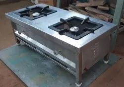 Commercial Double Burner LPG Stove