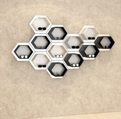 Hexagonal Wall Mounted Sunglasses Display