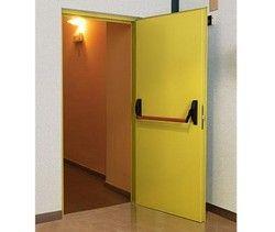 Hinged Single Door Fire Resistant Steel Doors