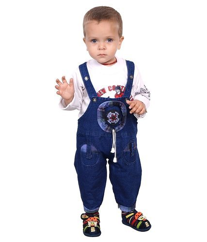 957dacd3a0c2 Ahhaaaa's Denim Dungaree With T Shirt For Kids (1-5 Years) at Rs 176 ...