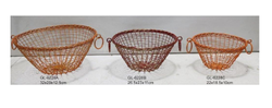 Round Wire Baskets with Handles Set Of 3 Pieces for Multipurpose Use