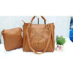 Brown Ladies Hand Bags