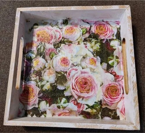 Decoupage Wooden Trays And Platters